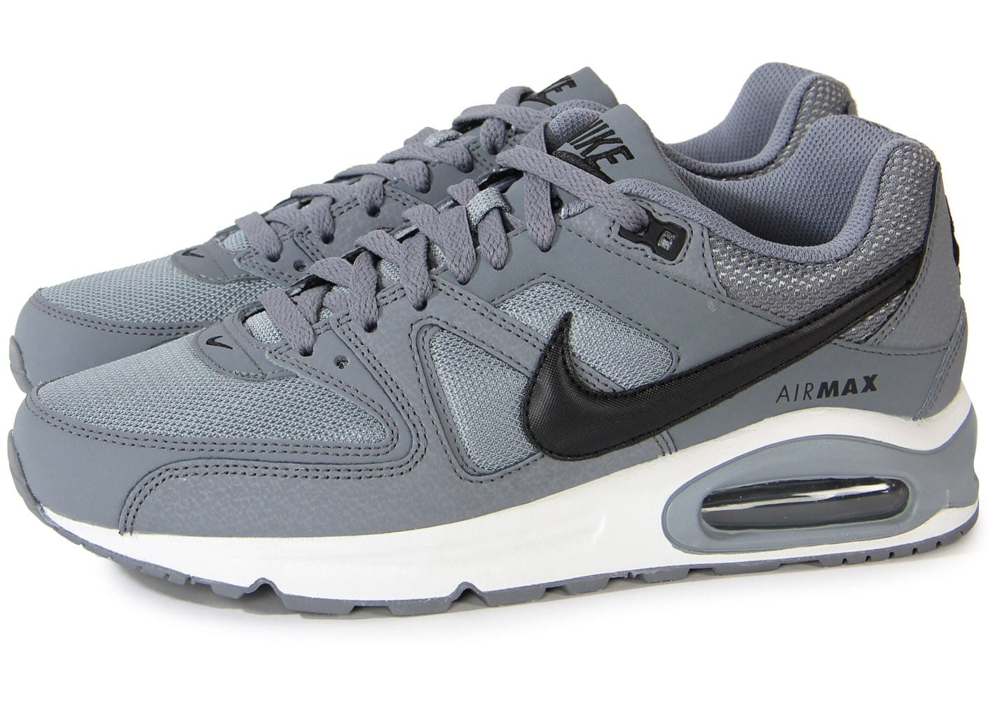Nike Air Max Command Cuir Grise - Chaussures Baskets homme ...