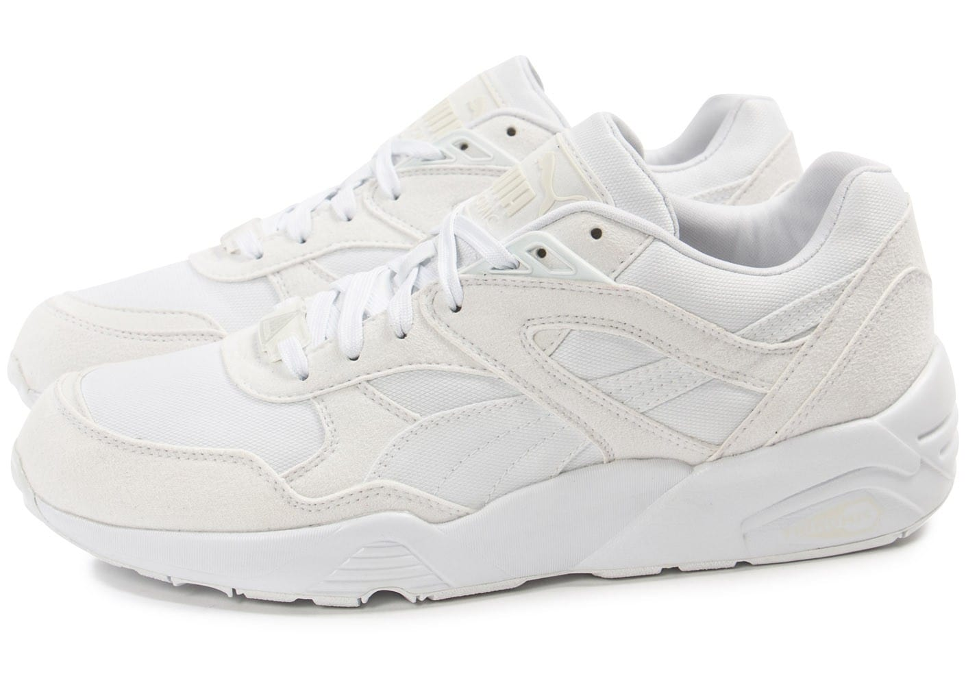 plus de photos 0d51b 506e0 Puma R698 Trinomic blanche - Chaussures Baskets homme ...