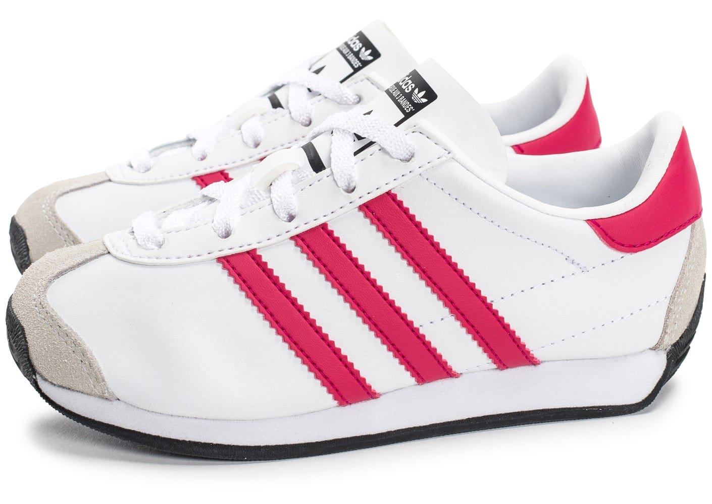 adidas Country OG Enfant blanche et rose Chaussures adidas