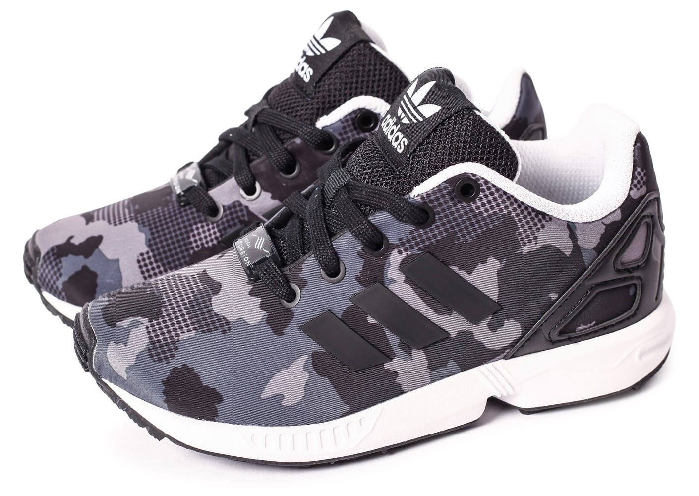 adidas ZX Flux EL Camo noire Chaussures adidas Chausport