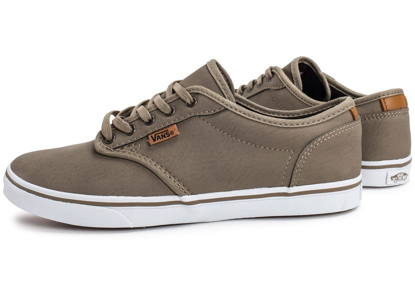 Vans Atwood Deluxe Beige - Chaussures Chaussures de Skate Femme