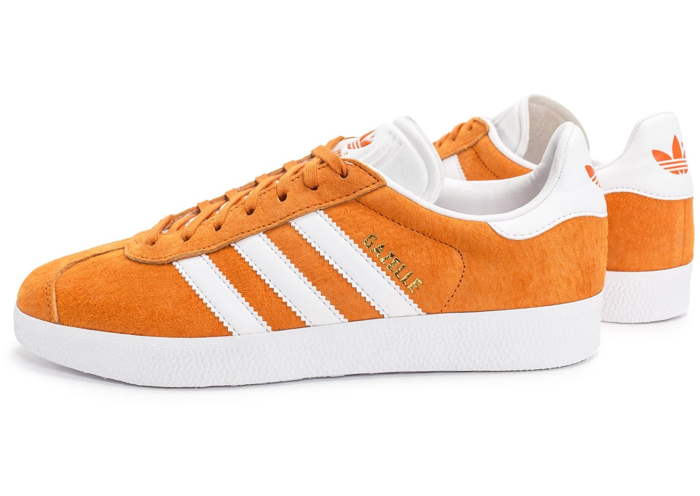 adidas Gazelle orange Chaussures Baskets homme Chausport
