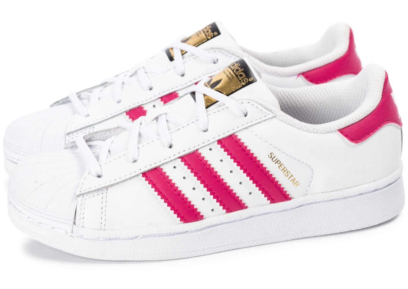 adidas blanche et rose