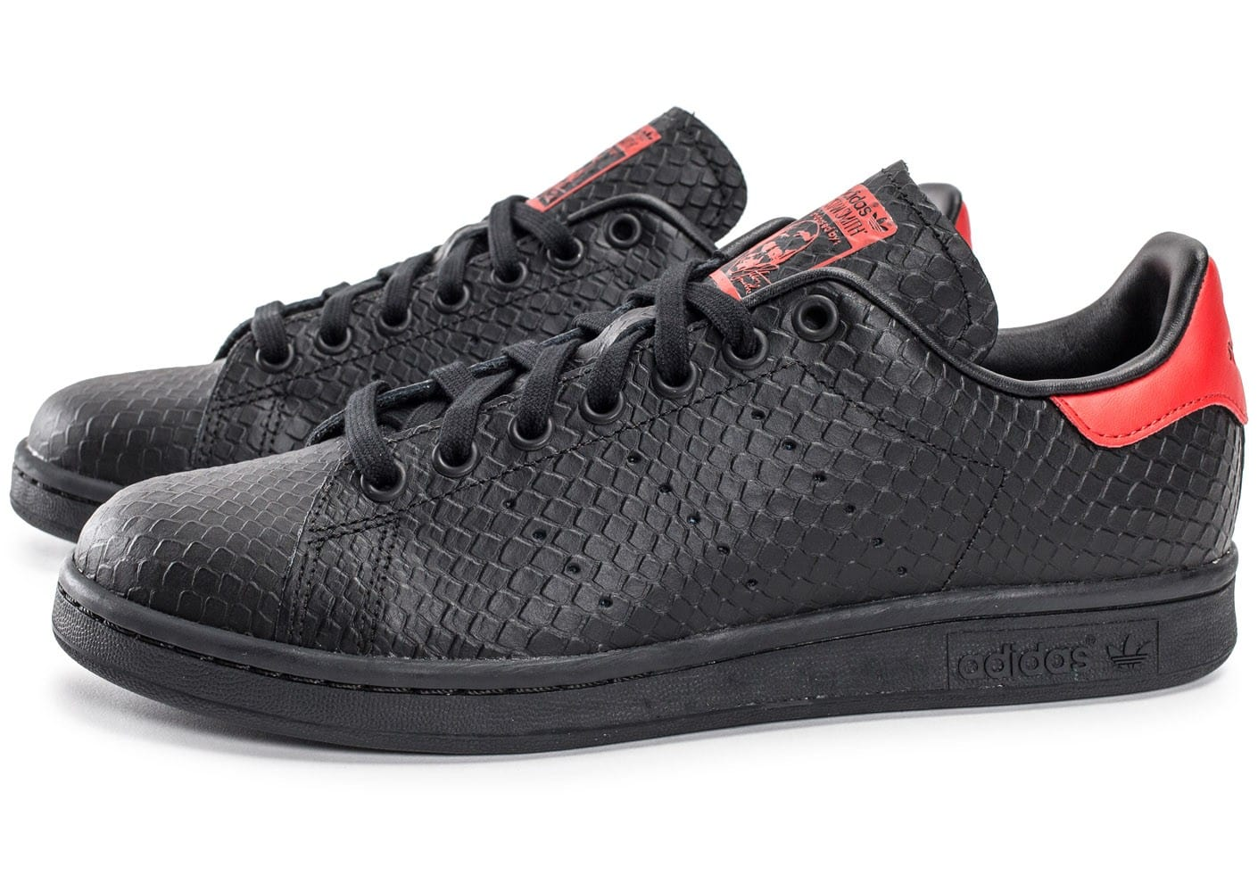 adidas Stan Smith serpent noir et rouge Chaussures Baskets
