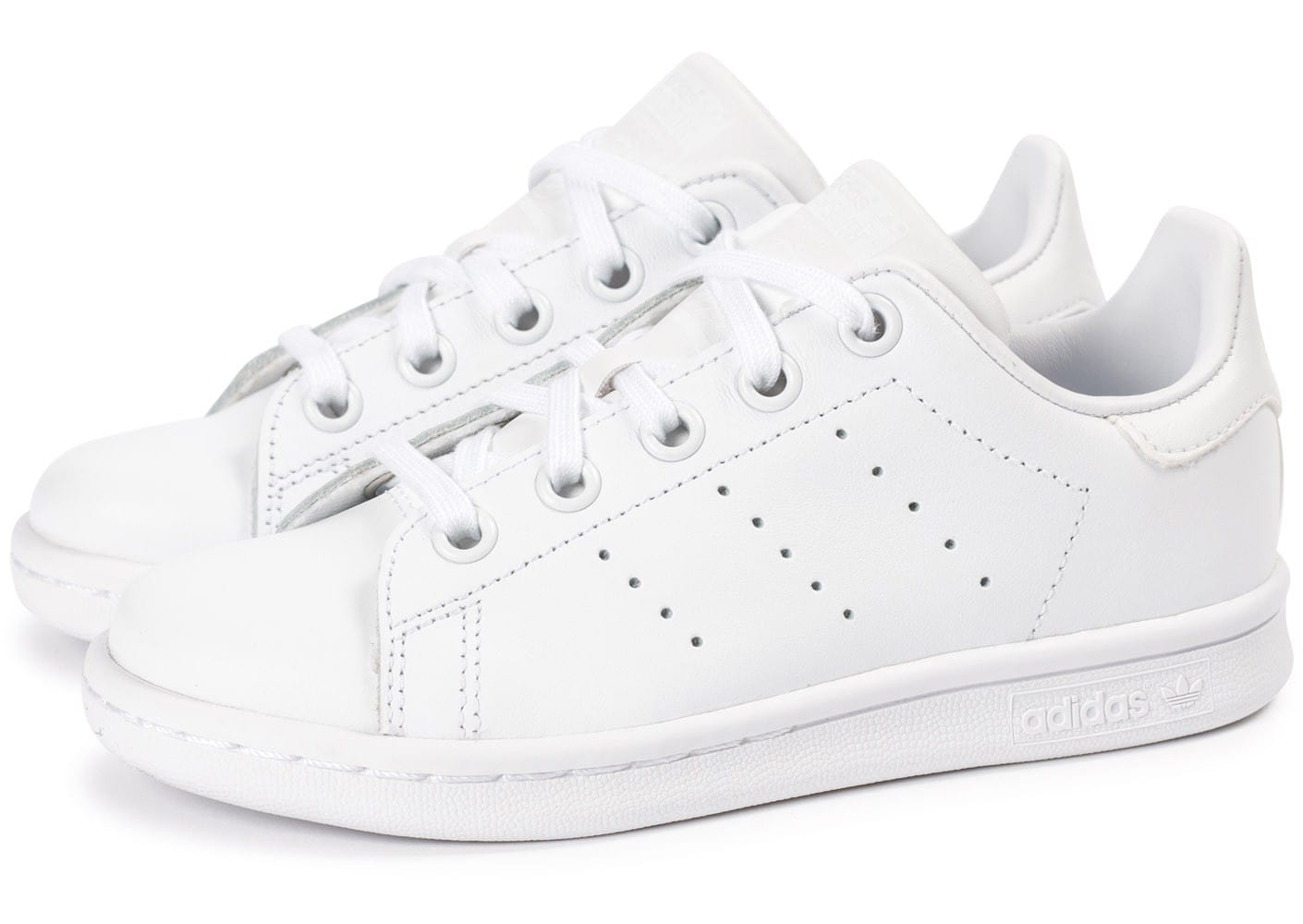 sports shoes 1e1dd e55d5 Chausport Adidas Enfant Pusprfx Smith Chaussures Blanche Stan C0qwd08P