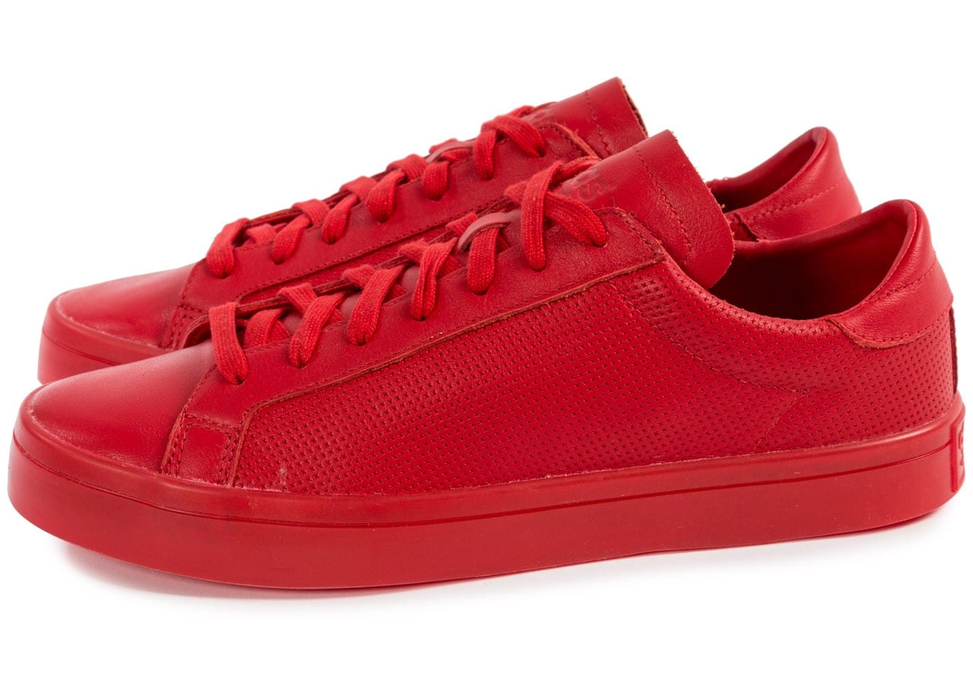 online store a840a daaa3 Adicolor Rouge Vantage Baskets Court Homme Adidas Chaussures