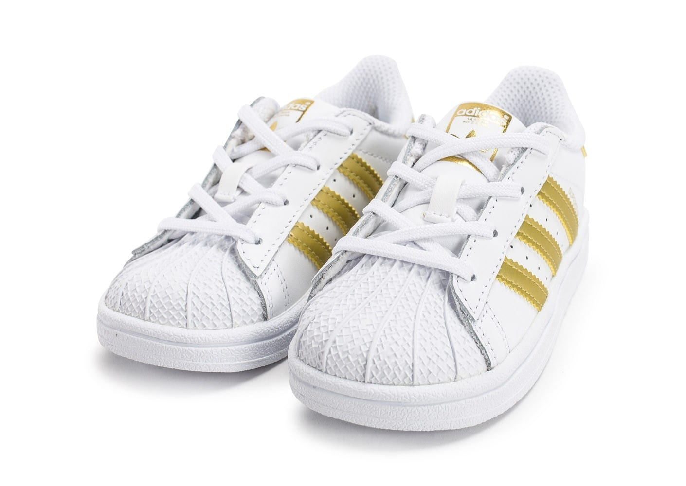superstar adidas blanche et or