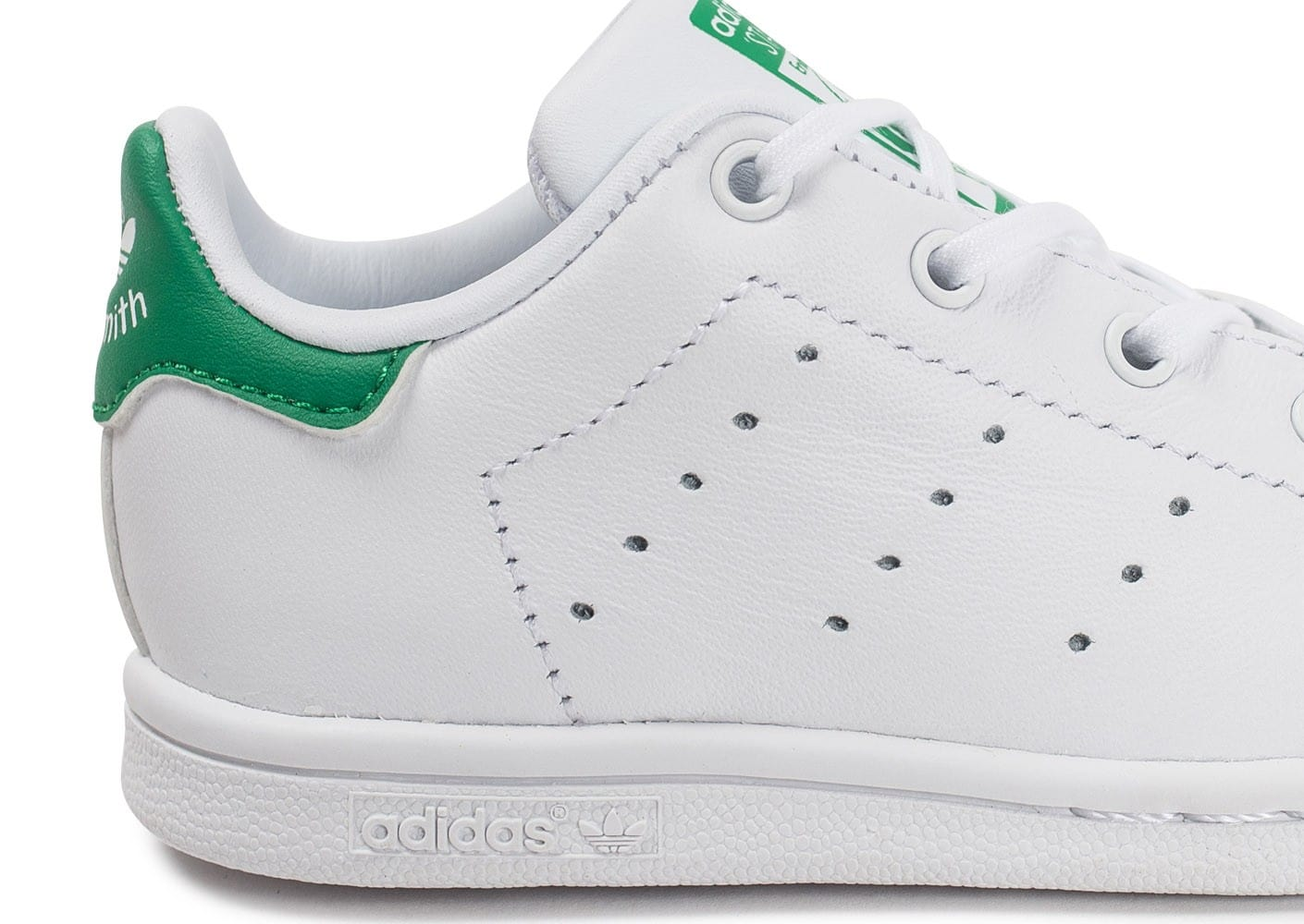 new concept e59a6 1629b Cliquez pour zoomer Chaussures adidas Stan Smith Iridescente blanche vue  ext茅rieure chaussure adidas chausport