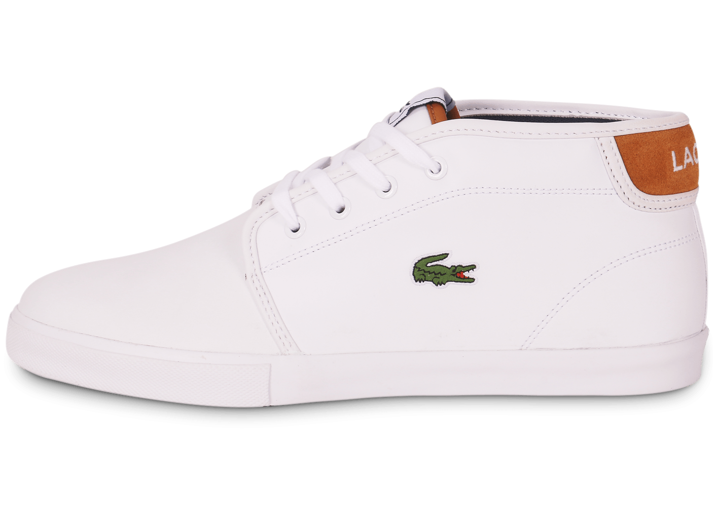 6a592dd3898 Lacoste Ampthill Blanche - Chaussures Baskets homme - Chausport