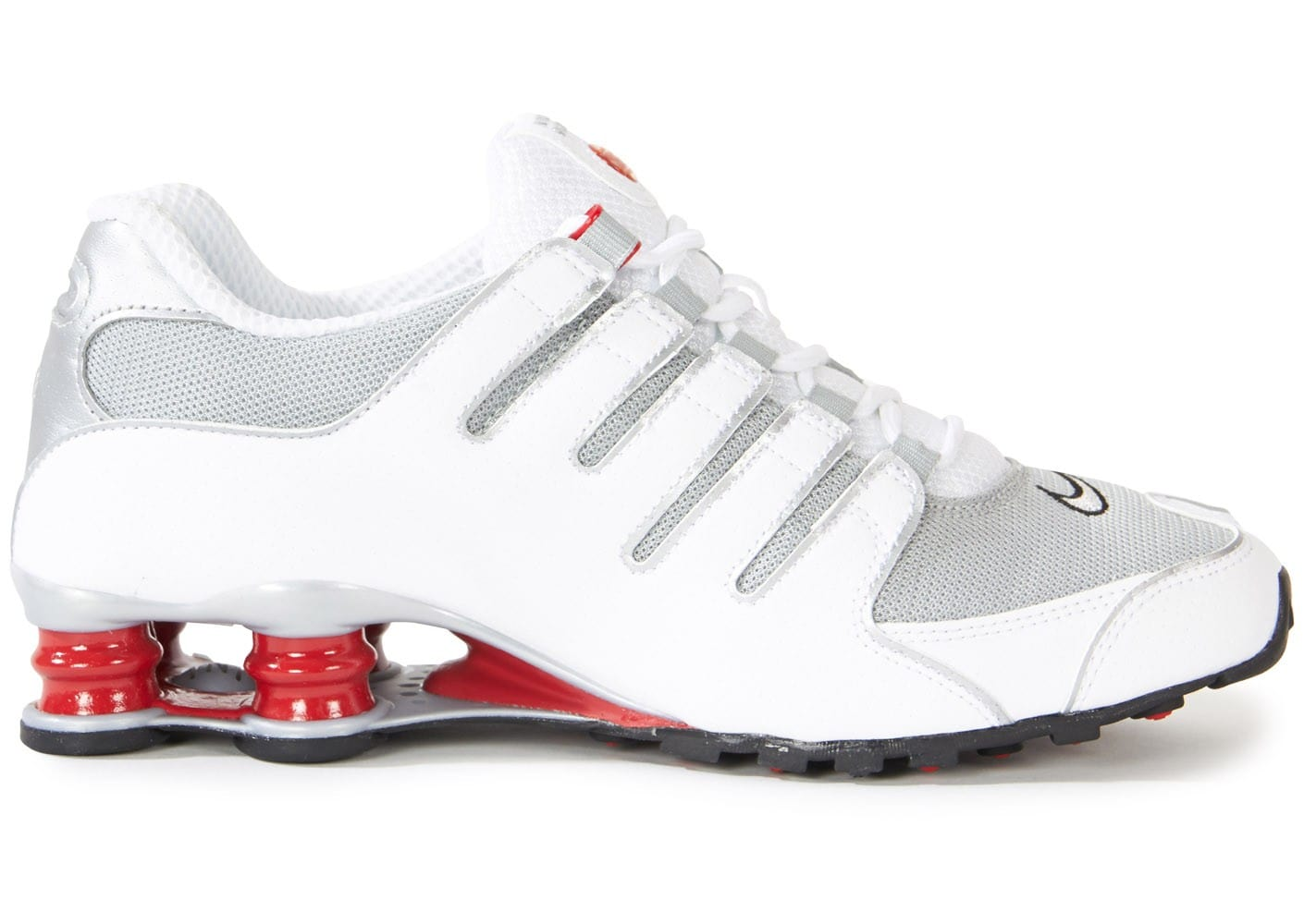 info for a5813 33f00 ... Chaussures Nike Shox Nz Blanche Rouge vue dessous ...