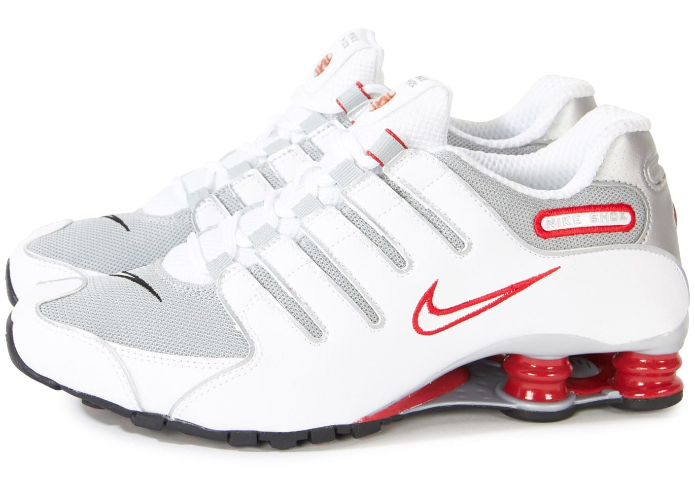 offer discounts affordable price latest discount Nike Shox Nz Blanche Rouge - Chaussures Baskets homme ...