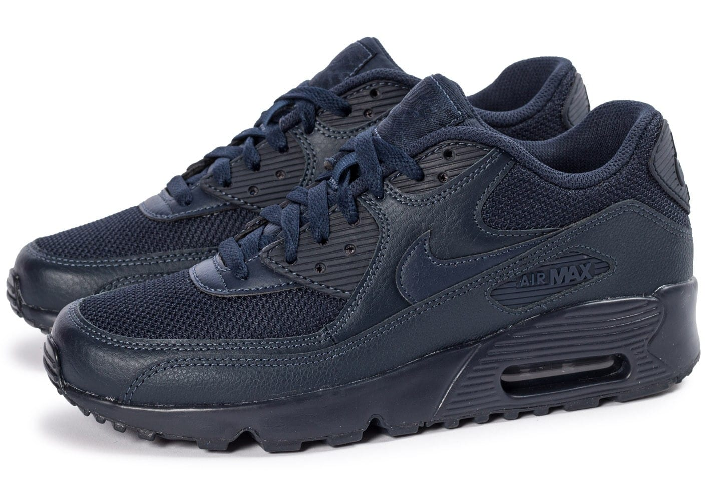 Nike Air Max 90 Mesh Junior bleu marine - Chaussures ...