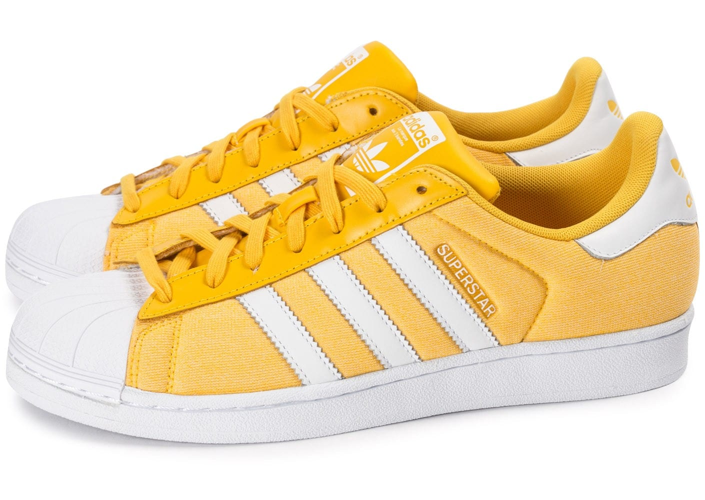 adidas Superstar Summer Pack jaune - Chaussures Baskets ...
