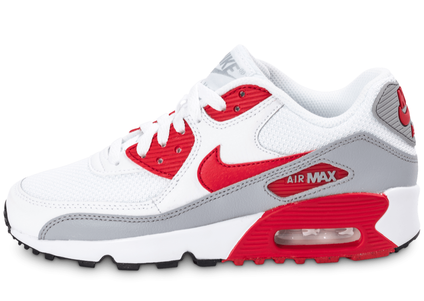 save off 5d500 f9807 ... official store nike air max 90 mesh junior blanche et rouge chaussures  chaussures chausport eaf9a f100c