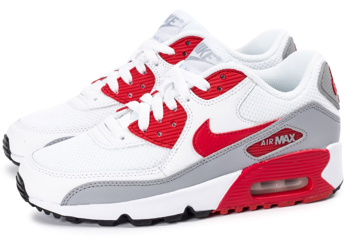 90 Chaussures Et Rouge Junior Blanche Max Mesh Air Nike GSVpUMqz