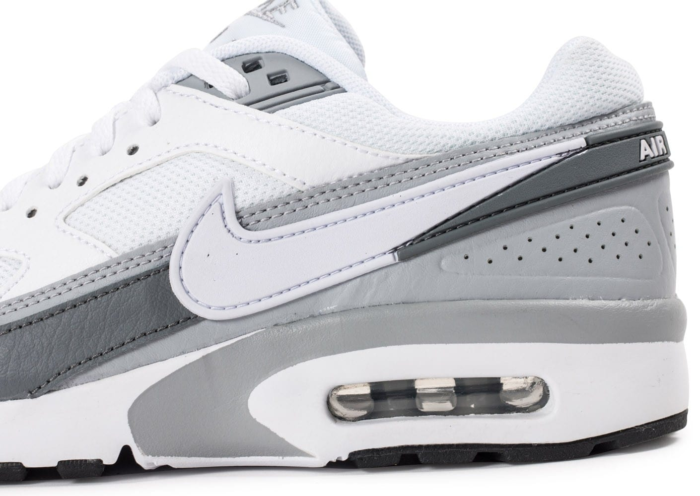 best service 8308e f1ed5 ... Chaussures Nike Air Max BW Junior blanche et grise vue dessus