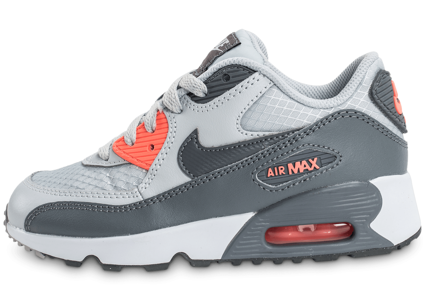 store new release detailed pictures Nike Air Max 90 SE Mesh Enfant grise - Chaussures Enfant - Chausport