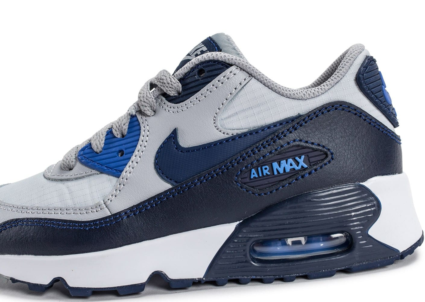 new design sale retailer outlet on sale Nike Air Max 90 Mesh Enfant grise et bleue - Chaussures Enfant ...
