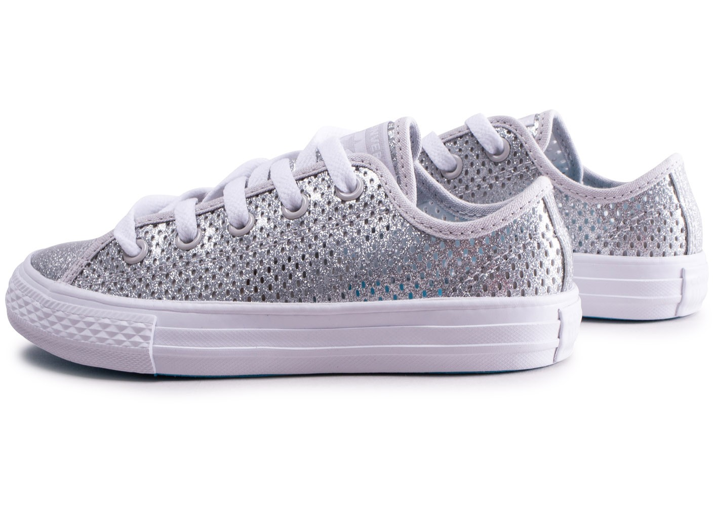 Converse Chuck Taylor All Star Low argent enfant