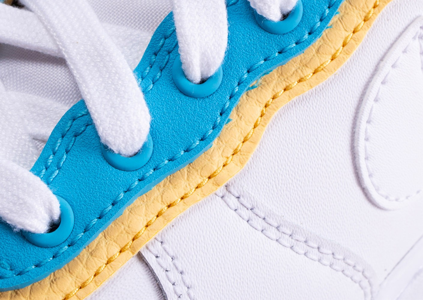 nike air force 1 jaune blanc bleu