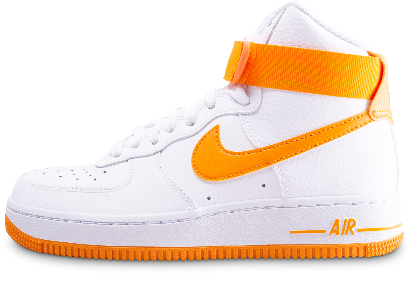 Nike Air Force 1 High blanc et orange femme