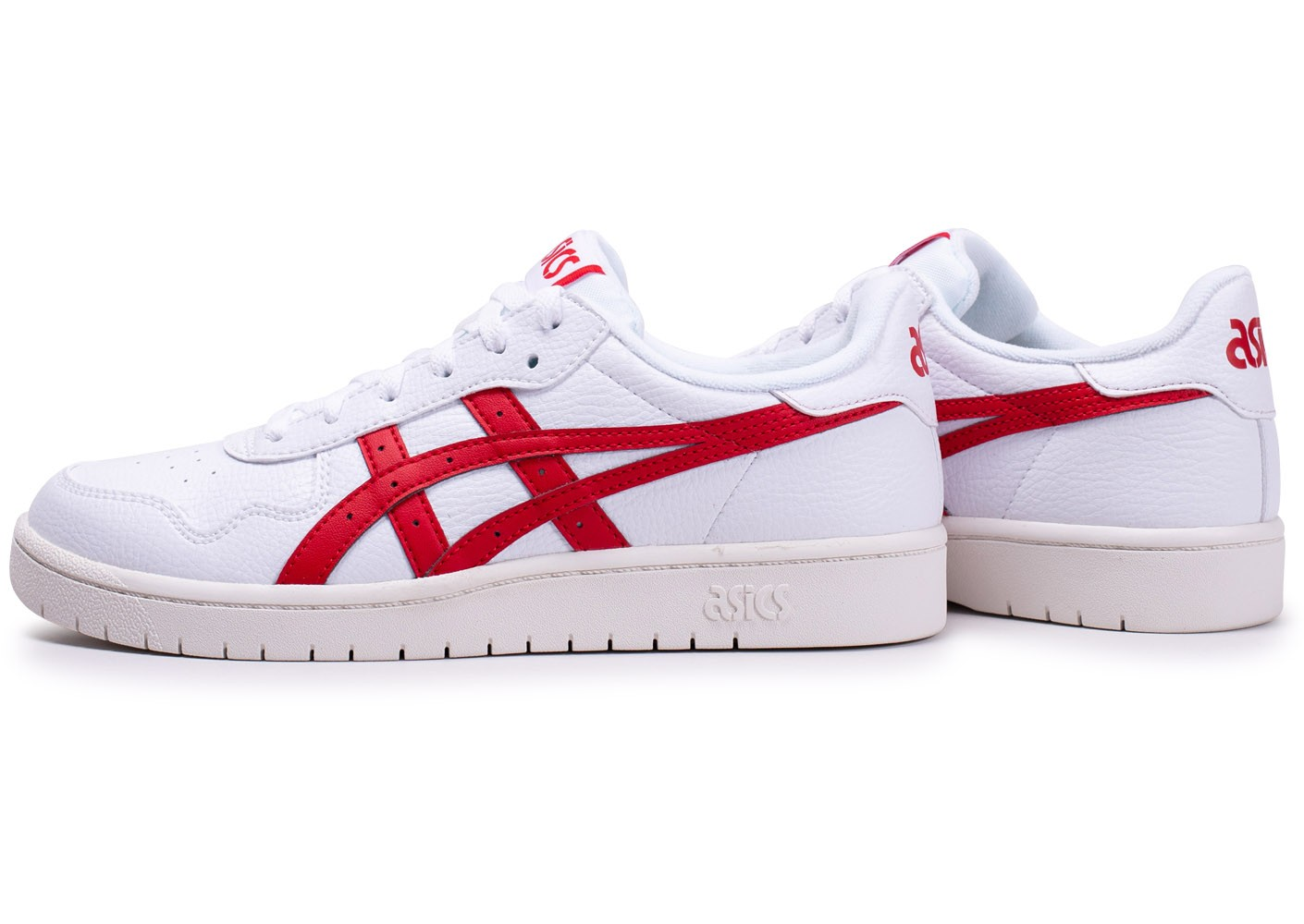 asics blanche rouge