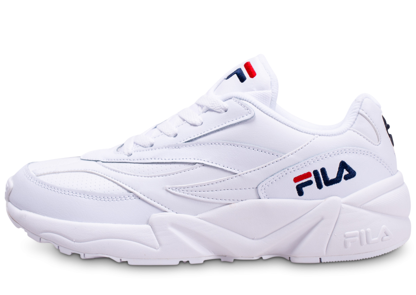 Fila V94M Low blanche Chaussures Baskets homme Chausport