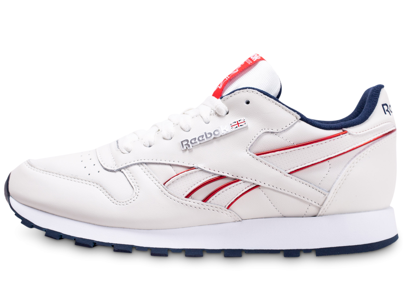 Reebok Classic Leather blanc cassé rouge