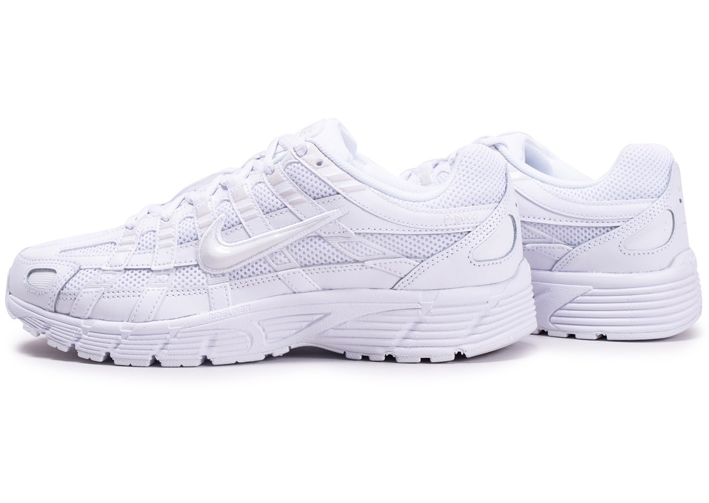 Nike P 6000 Blanche et Grise Chaussures Baskets homme