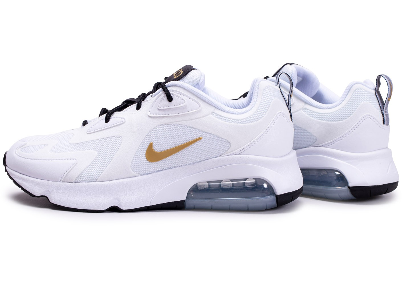 Nike Air Max 200 blanc or Chaussures Baskets homme Chausport