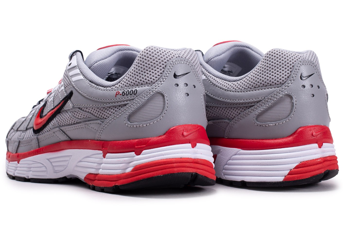 Nike P 6000 grise et rouge Chaussures Baskets homme