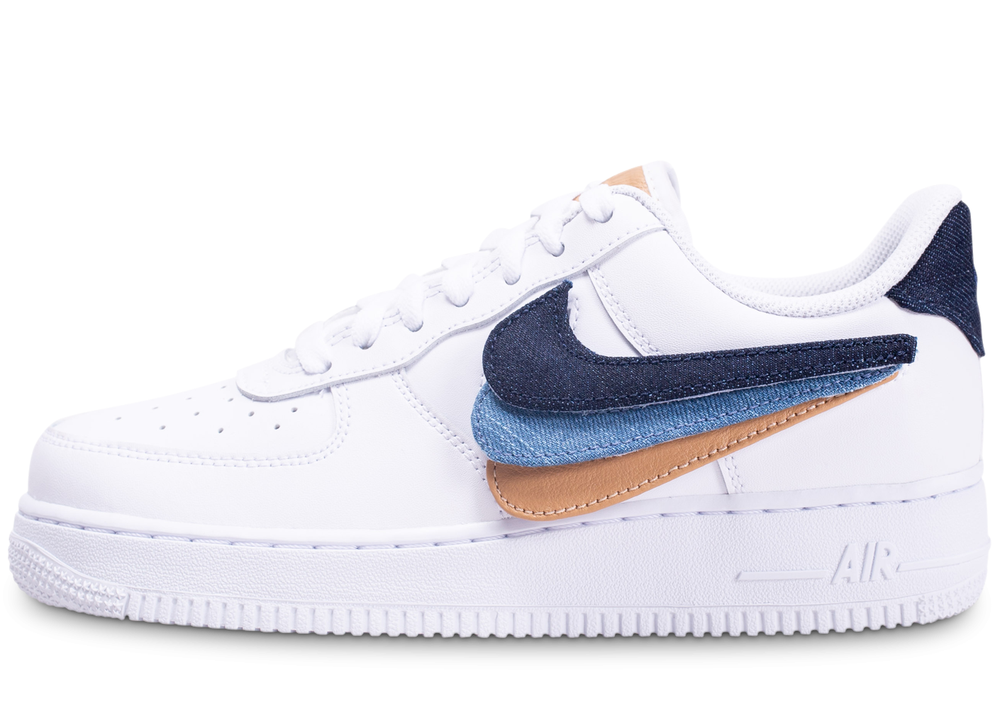 nike air force 1 swoosh bleu