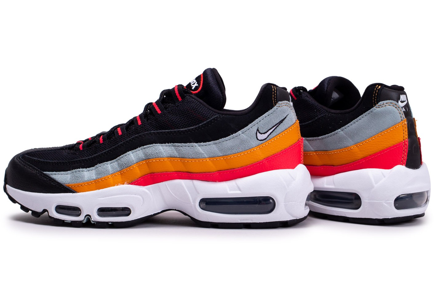 Nike Air Max 95 Essential noir gris orange - Chaussures ...