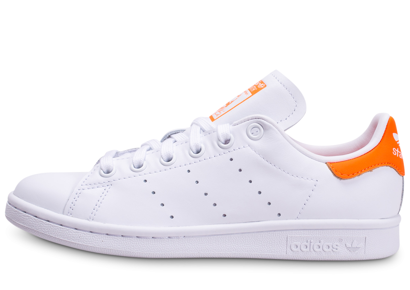 adidas Stan Smith blanche et orange femme