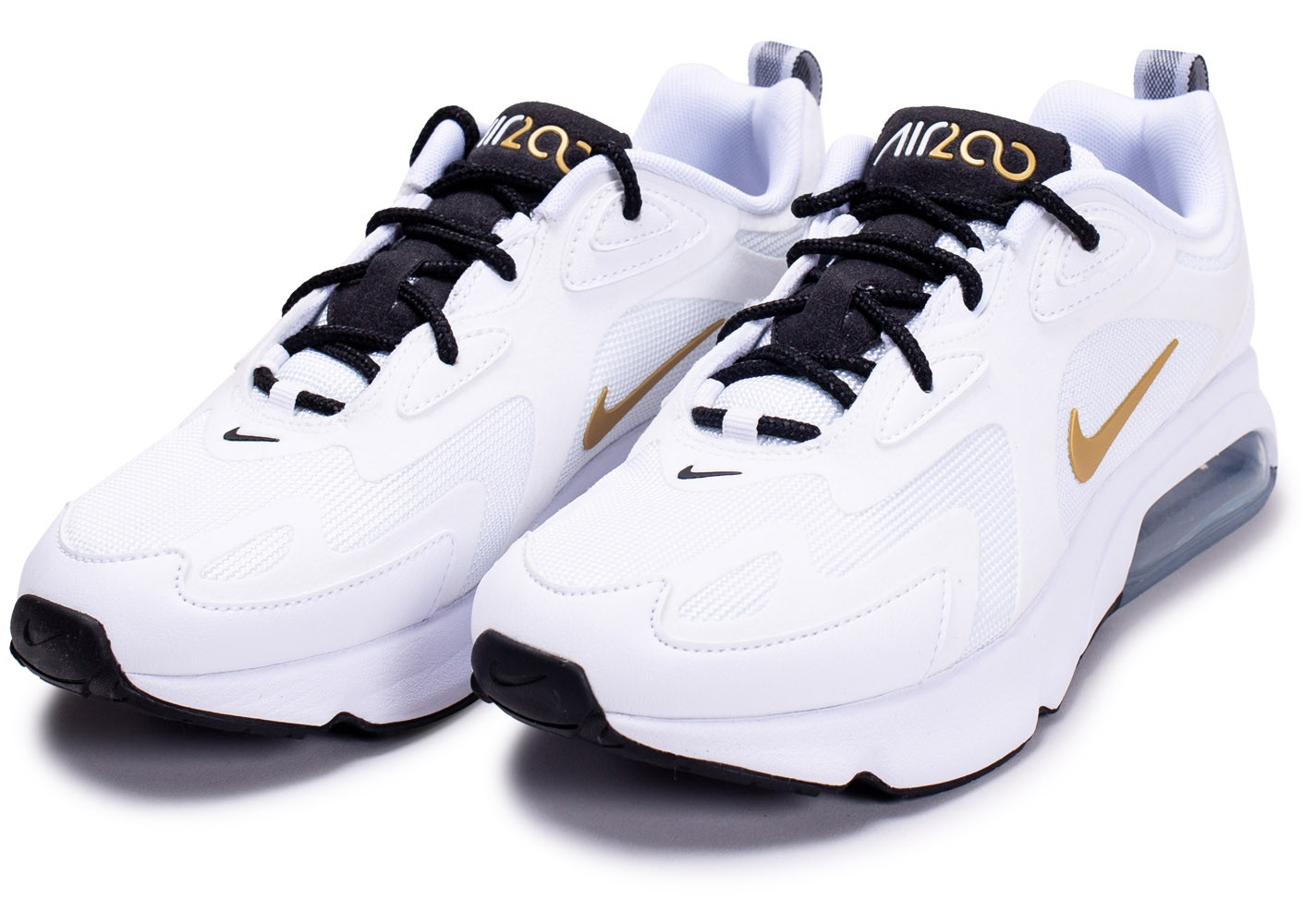 Nike Air Max 200 blanc or femme - Chaussures Baskets femme ...