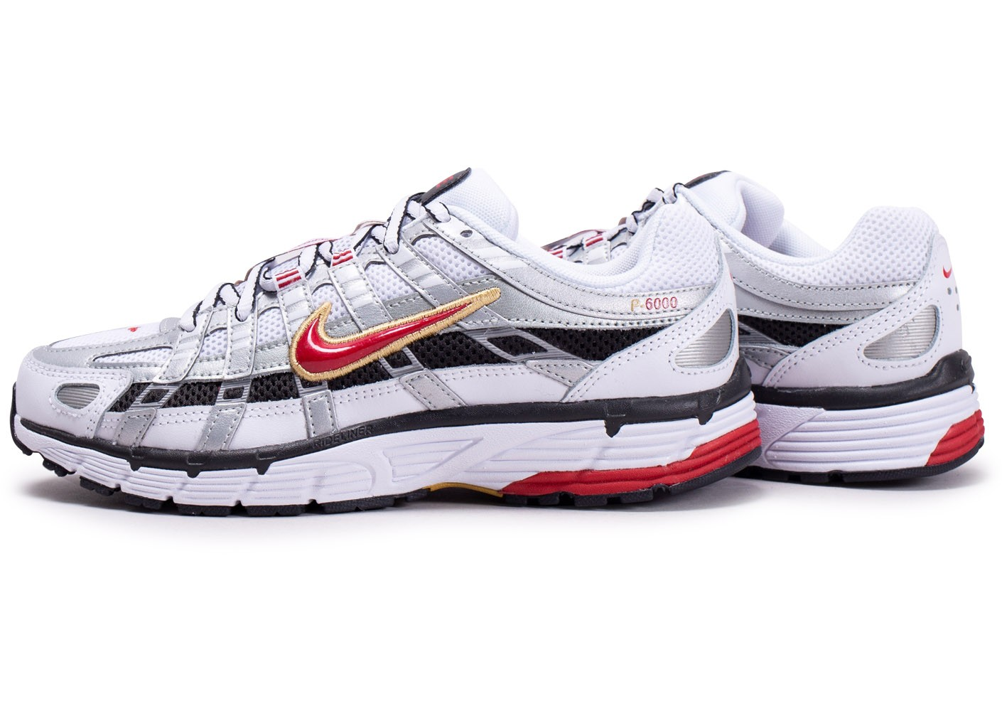 Nike P 6000 blanc gris rouge femme Chaussures Baskets