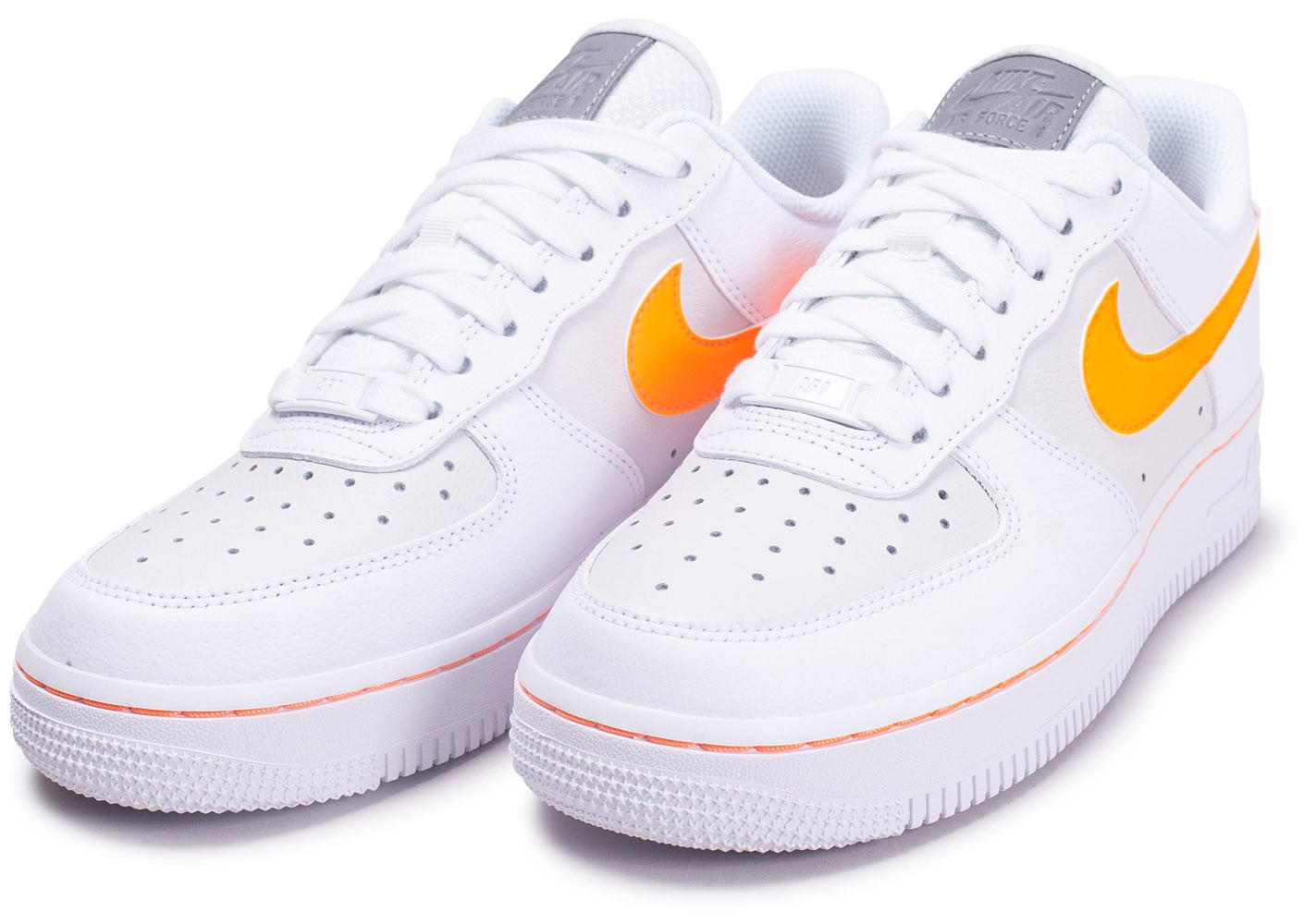 air force 1 femme orange fluo