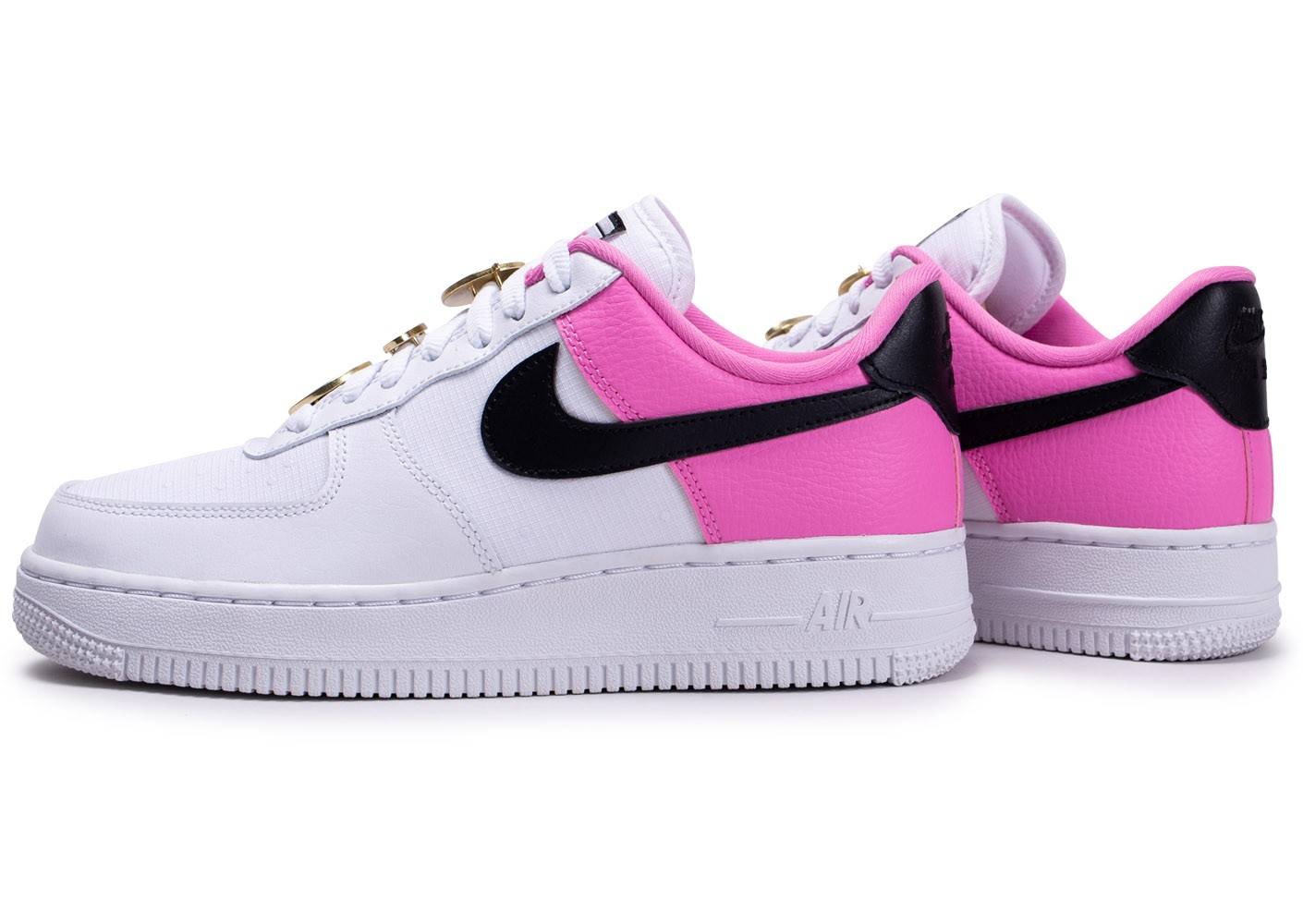 Nike Air Force 1'07 blanc rose femme - Chaussures Baskets ...