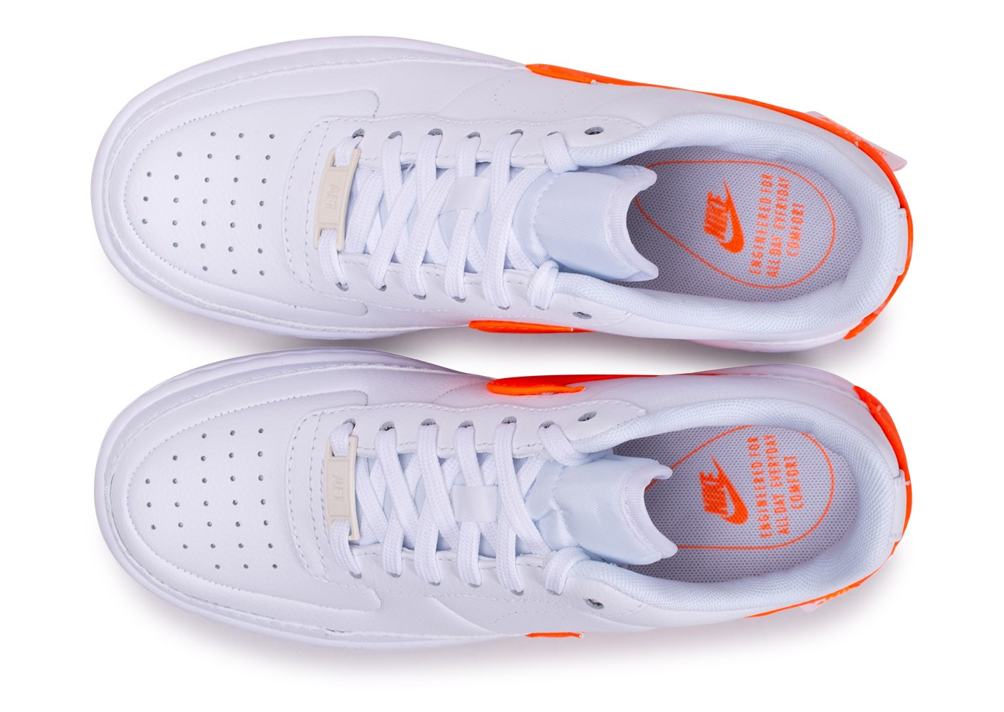 nike air force one femme orange