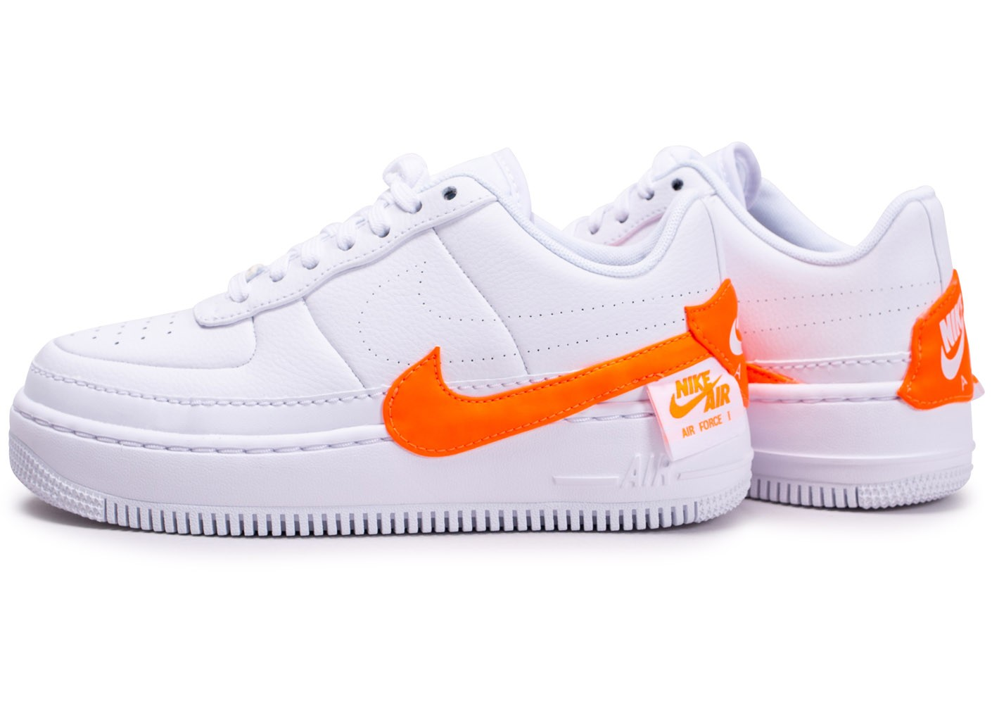 air force 1 shadow blanc orange femme