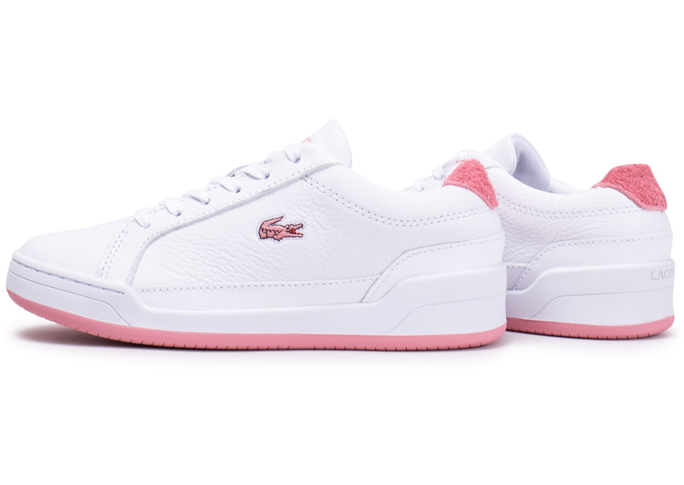 chaussure lacoste femme rose