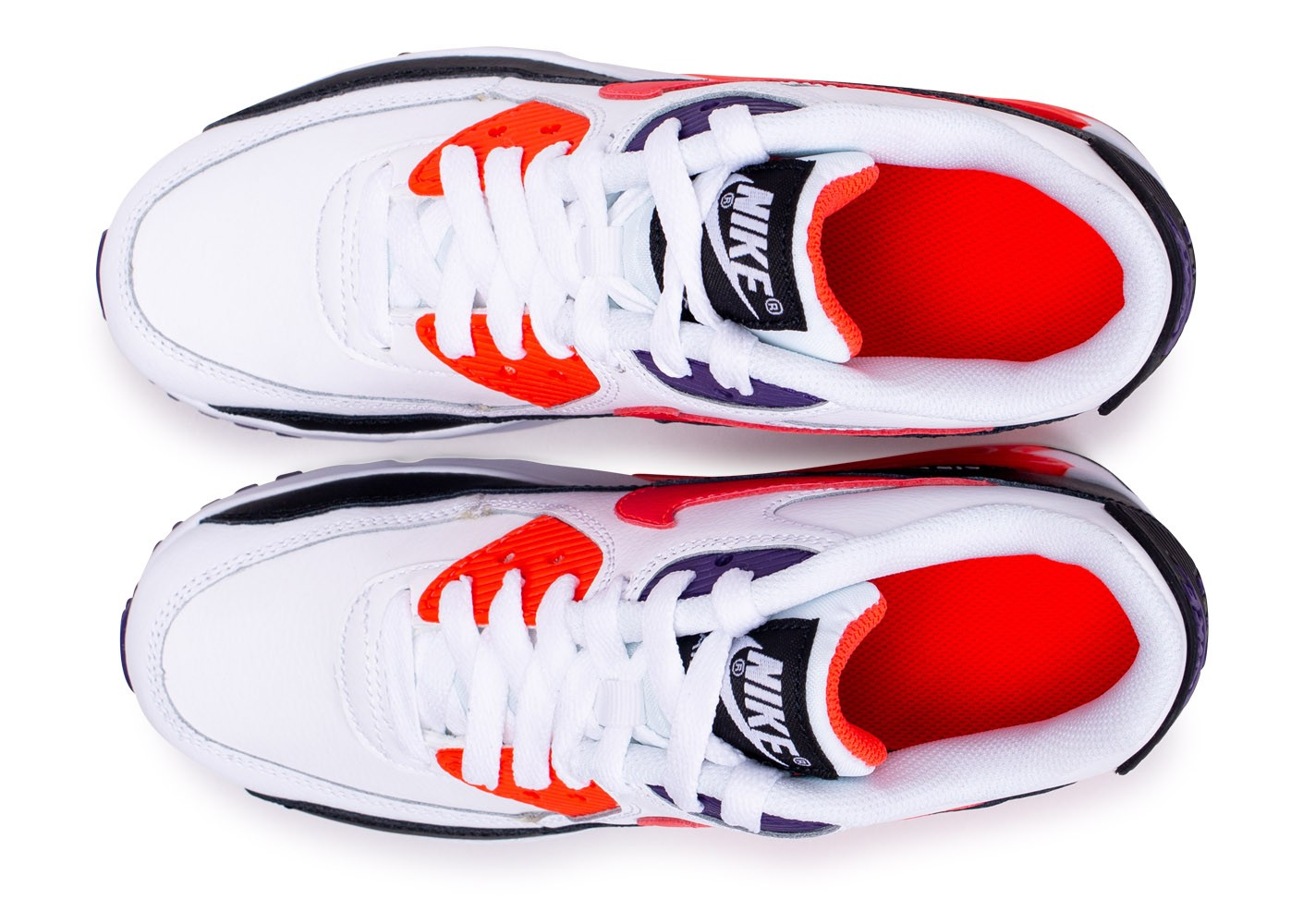 Nike Air Max 90 Leather blanc rouge noir junior Chaussures