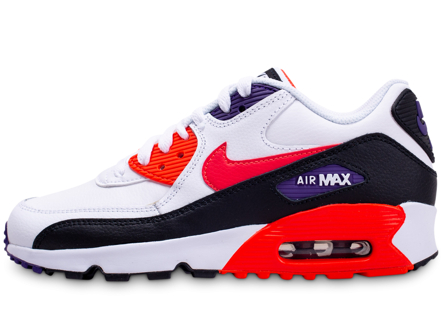 design de qualité 41b0c 93ae9 Nike Air Max 90 Leather blanc rouge noir junior