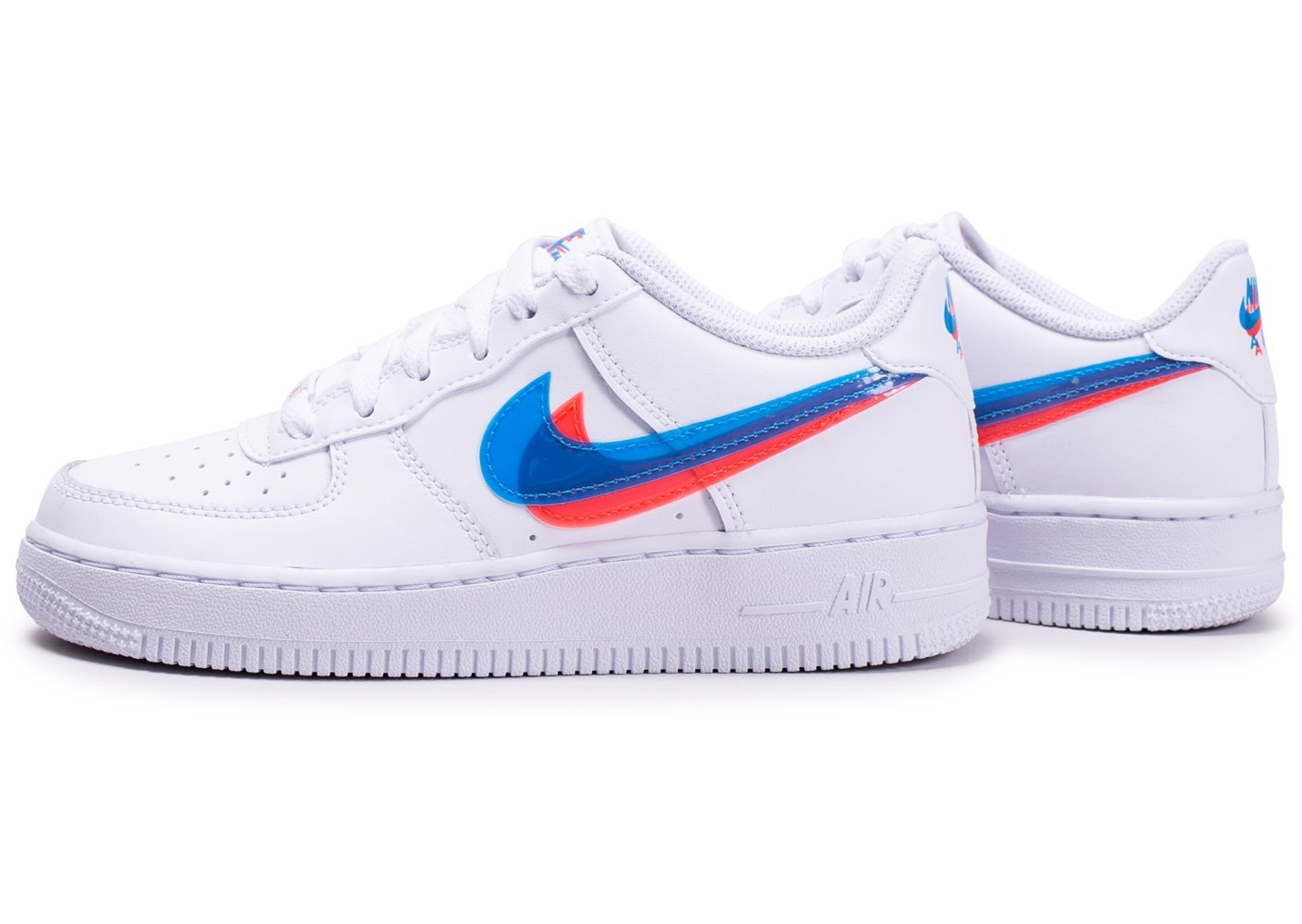 Nike Air Force 1 LV8 Low 3D blanche junior - Chaussures ...
