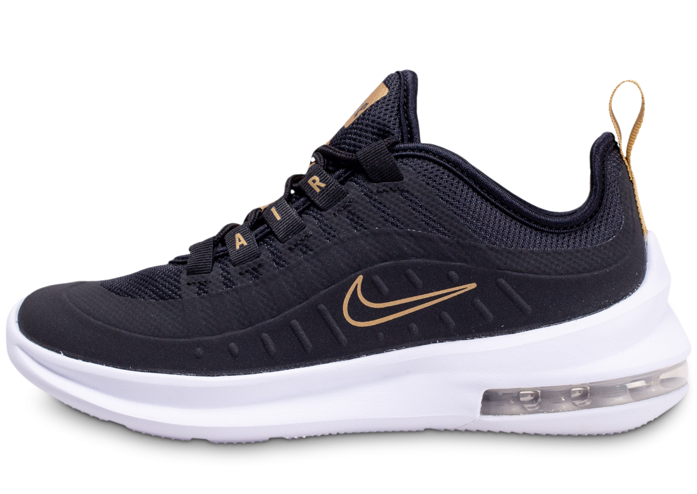 Nike Air Max Axis Noire Blanche et Or Junior