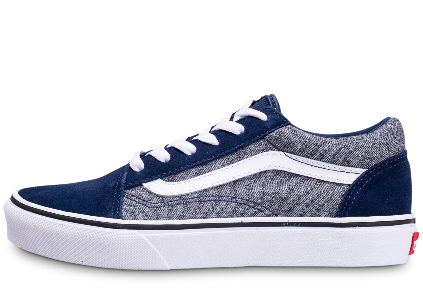 Vans Old Skool grise et bleue junior