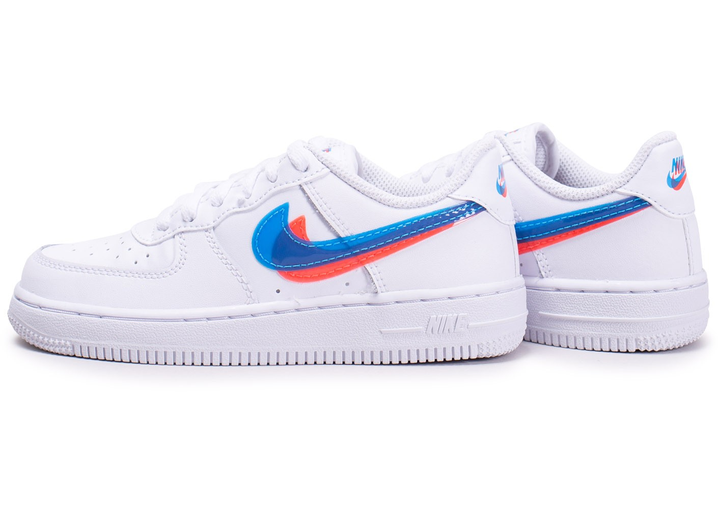 quality products cheap super cute Nike Air Force 1 3D Blanche, rouge et bleu - Chaussures Enfant ...
