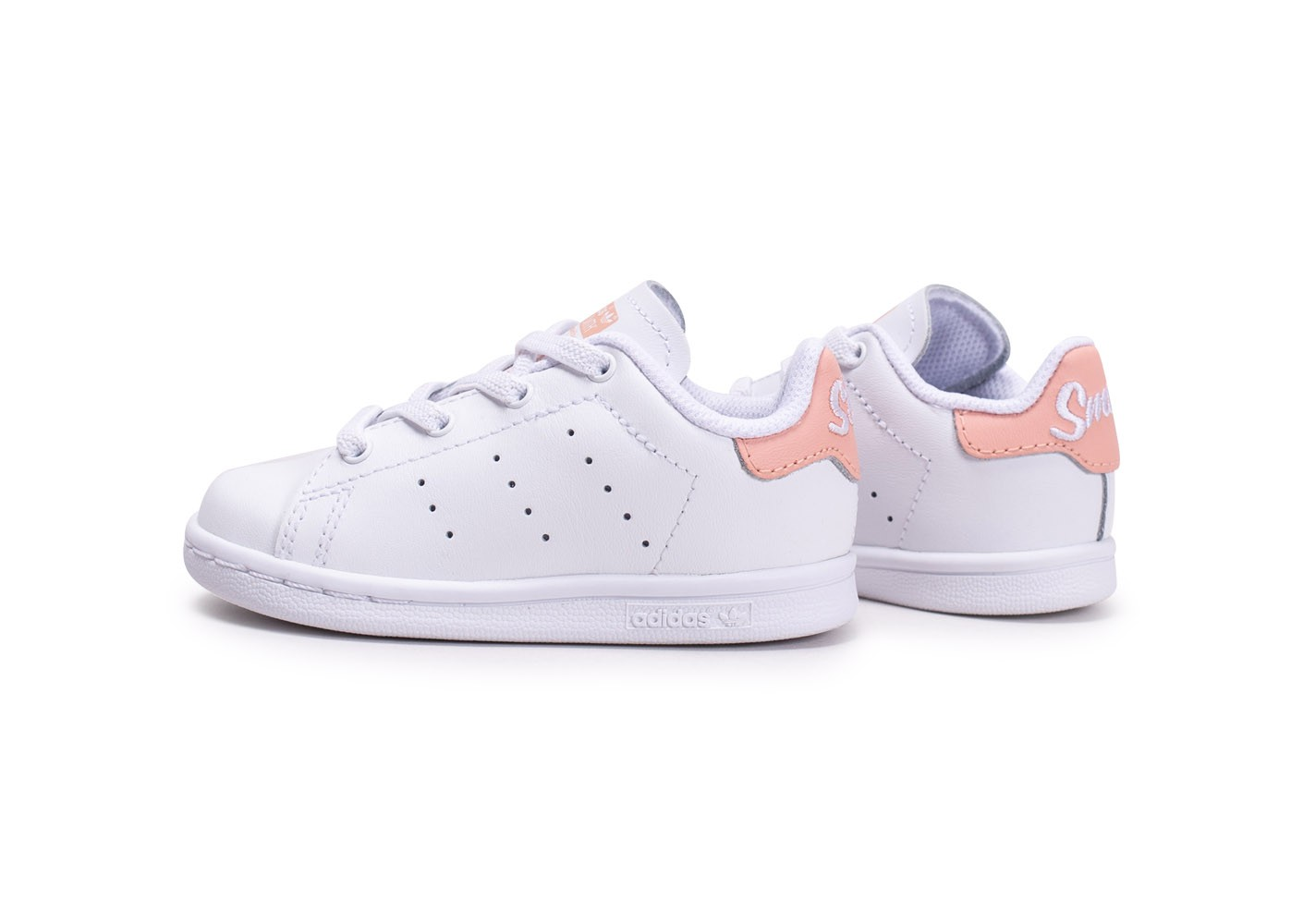 adidas Stan Smith blanche et rose bébé - Chaussures adidas ...
