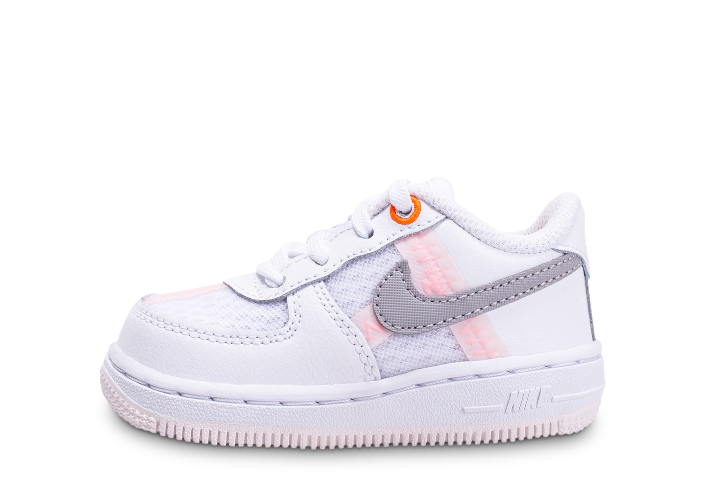 Nike Air Force 1 Low blanc gris rose bébé