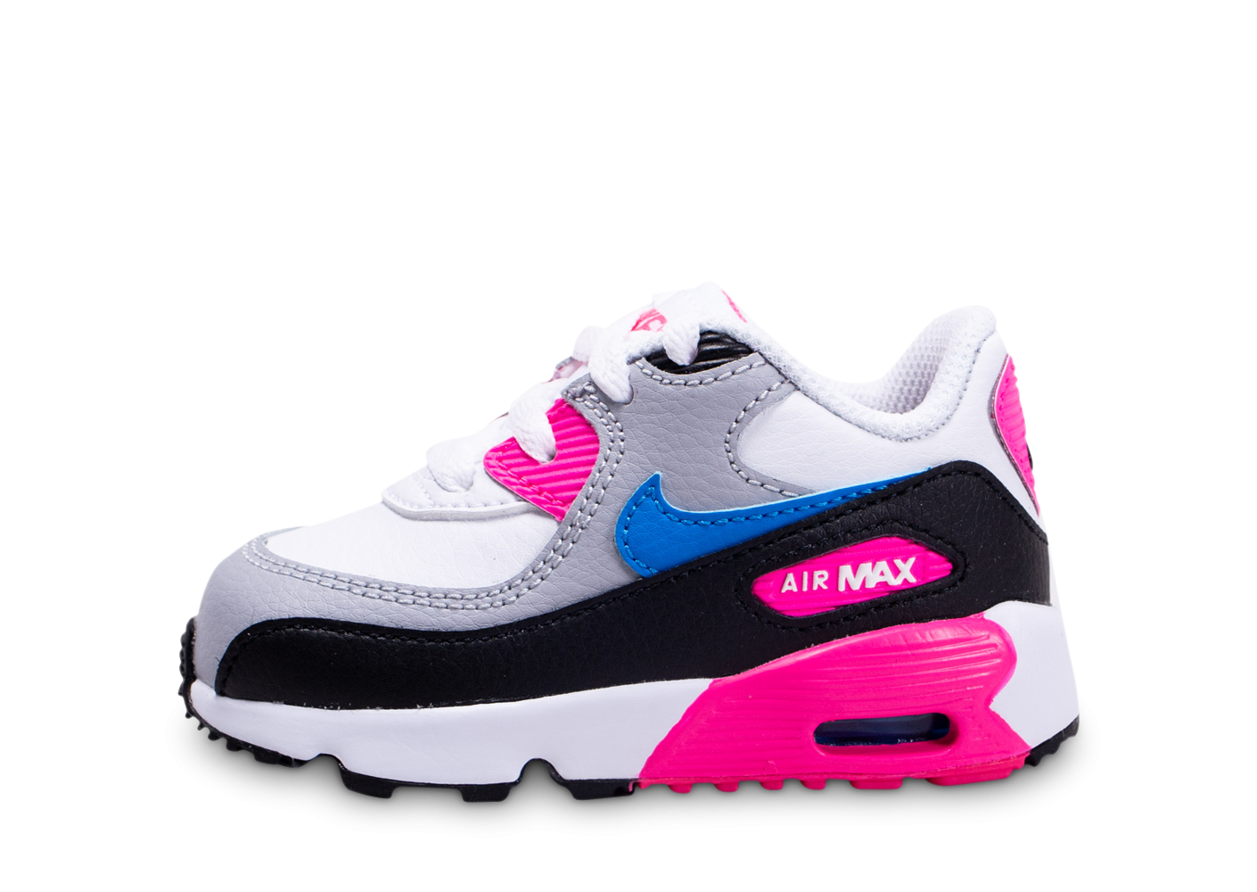 Nike Air Max 90 Leather blanc rose bleu bébé